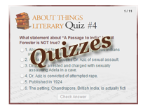 Quizzes on famous writers